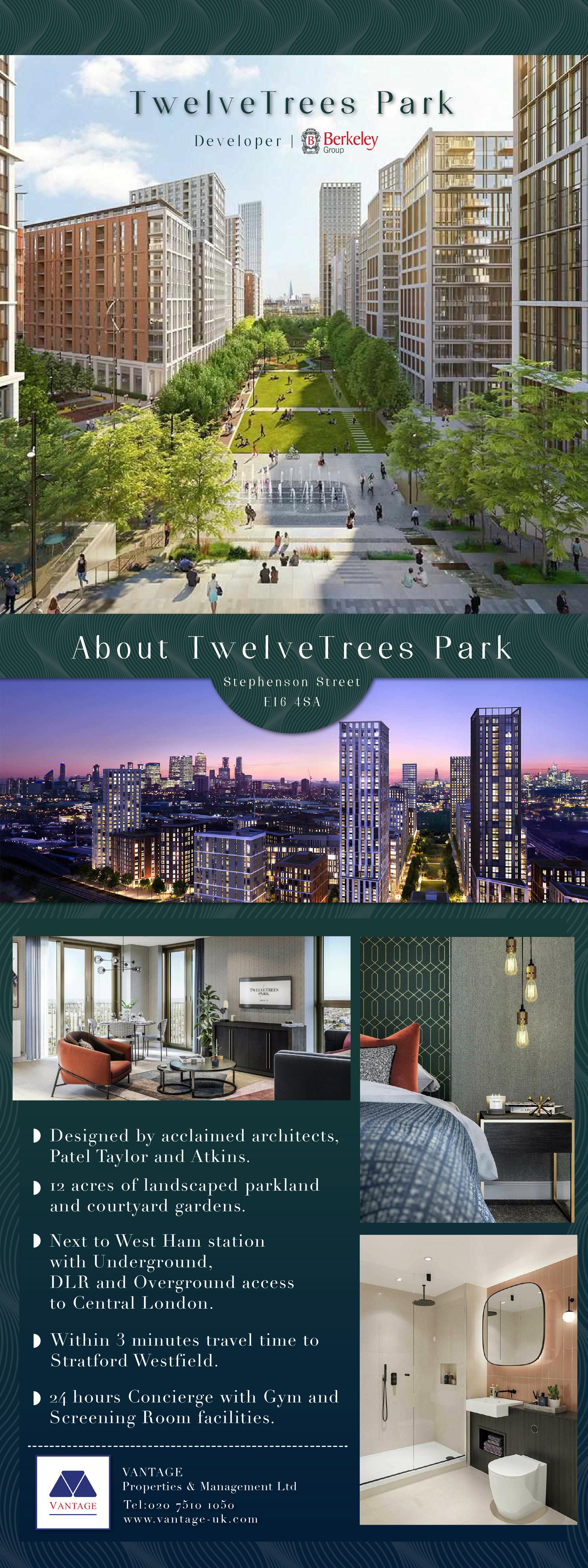 Monthly Marketing Activity - TwelveTrees Park E15